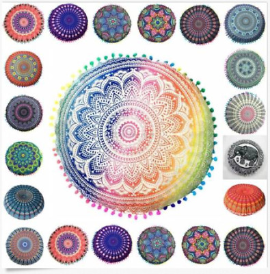 MANDALA GROSSE RUNDE Boden Kissen Boho Meditation Throw Pillow ...