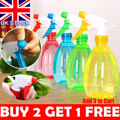6 Colors Spray Bottle Plastic Water Spray For Salon Plants Garden Cleaning UK .