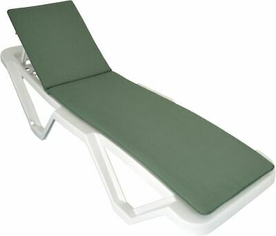 Green Sun Lounger Cushion Pad for Sunlounger Garden Padded Patio Bed