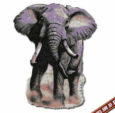 African Elephant Machine embroidery Large design. Digitized embroidery files DST
