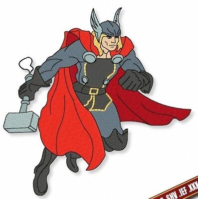 Machine Embroidery Thor design. Embroidery pattern SuperHeroes Digital files PES