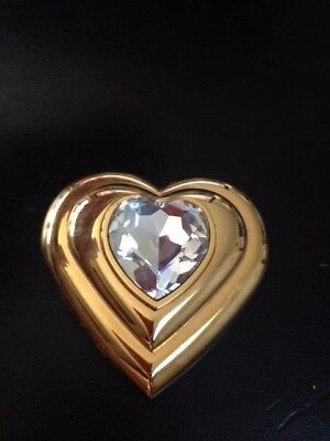 3269054a8f5 Yves Saint Laurent Vintage Jewel Powder Collectors Item Clear Stone Heart