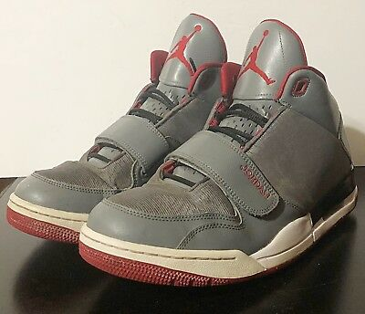 649d48ce652 NIKE JORDAN FLIGHTCLUB 90's Cool Grey Gym Red Black White 602661 022 ...