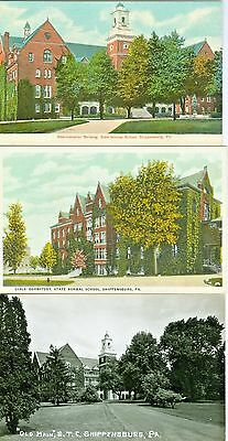 Shippensburg PA Shippensburg State Teachers College, Collector's Set of Three