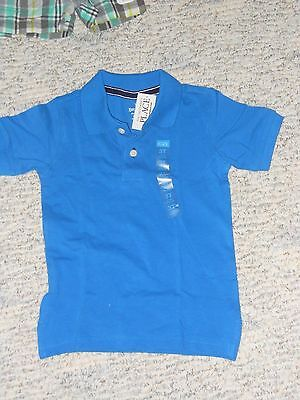 NWT - Childrens Place short sleeved blue polo shirt - 18-24 mos boys