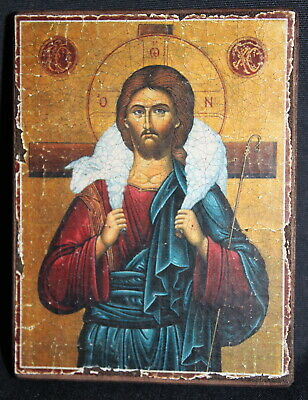 Handmade copy ancient ORTHODOX CHURCH ICON Christ The Good Shepherd 78M