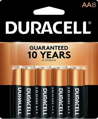 Duracell Coppertop Alkaline Battery AA, 8PK 1.5V Engineered to Deliver the Power