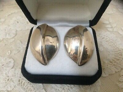 Taxco Mexico .925 Sterling Silver Tf-43 Post Earrings Euc