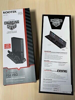 Kootek Vertical Charging Stand for PS4 Pro with cooling fans Game Cooler Station