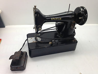 Vintage Spartan 192K Sewing Machine Simanco Canada Foot Pedal Parts Repair