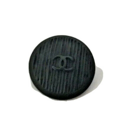2-CHANEL CC LOGO BLACK METAL BUTTON Circa 1980s