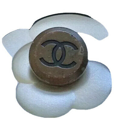 2-CHANEL CC LOGO BROWN METAL BUTTON  Circa 1980s