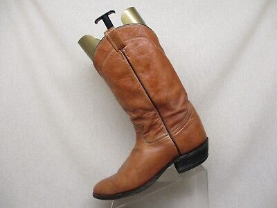 da6cfb40985 USED TONY LAMA Brown Western Cowboy Boots Mens Size 10 1/2 D Style ...