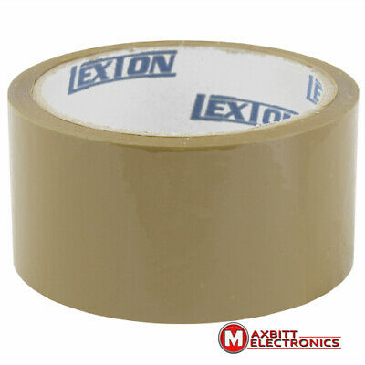 6 Rolls of Brown Strong Parcel Tape Packing Sellotape Packaging 48mm x 40m