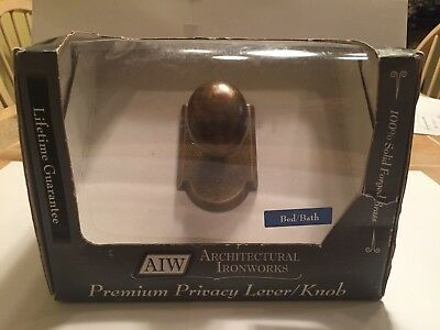 Very Heavy New old stock architectural solid brass door knobs sets