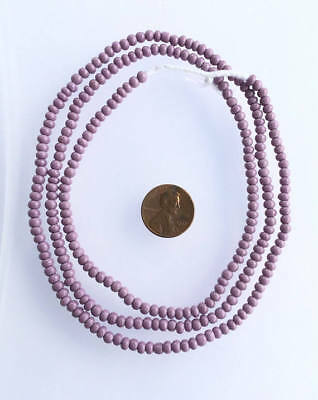 Vintage Opaque purple African glass beads Ghana Trade Beads