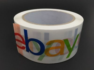 """Ebay Branded Shipping Packing Tape ~ Classic Logo ~ 2"""" x 75 yards ~ 2 Rolls"""