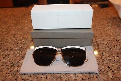 caf4ea39c4 Christian Dior So Electric S 266-NR White and Gold Brown Grey Lens