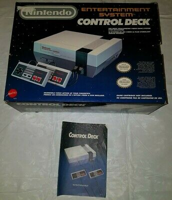 EMPTY BOX ONLY Nintendo Entertainment System NES Control Deck 1985 + Manual