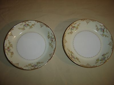 """2 Soup Bowls Marie by Meito 7 1/2"""" diameter ~  6 pairs available 9695"""