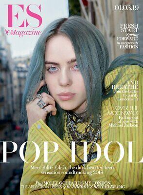 Billie Eilish Cover & Interview Es Magazine (Uk) 1 March 2019