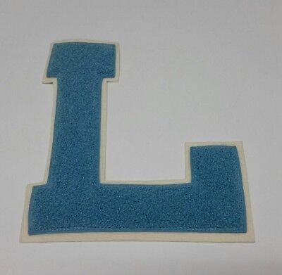Chenille Patch Letter Initial G White Burgundy Vintage Letterman Embroidered