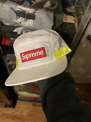 92565965756 SUPREME HAT 5 Panel Camp Cap Red Quilted Made In USA -  69.99