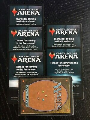 Magic Arena MTG War of the Spark FREE Draft Code from Prerelease Kit EMAIL ONLY