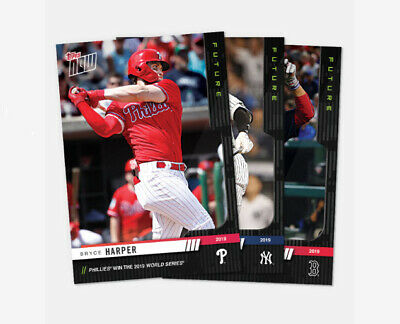 2019 Topps NOW Futures World Series YOU PICK CARD WIN JUDGE TROUT ACUNA HARPER