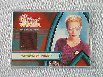 Women Of Star Trek Voyager Jeri Ryan As Seven Of Nine Costume Trading Card F1