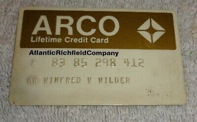 vintage gas company credit cards  ARCO lifetime