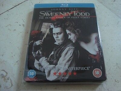 SWEENEY TODD BluRay SteelBook + STAND rare OOP 1st UK SB TIM BURTON Johnny Depp