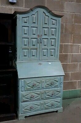 Antique Shabby Chic Dresser Cabinet Cupboard Country French Duck Egg Blue