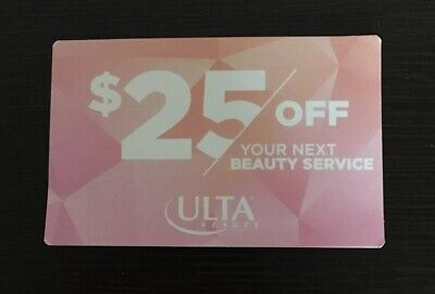 Ulta $25 Off any Beauty Services Gift Card Expires 12/19