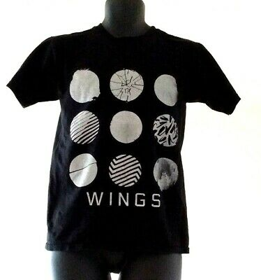 BTS The Wings Tour 2017 Live Trilogy Episode III KPOP T Shirt Black Size S