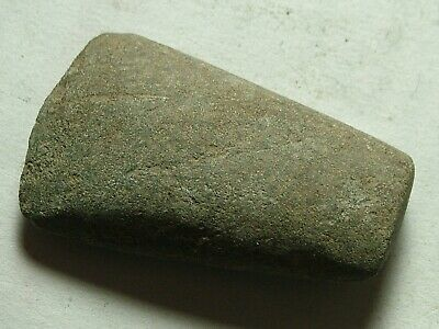 Rare Genuine ancient stone age battle hand axe celt tool artifact intact patina