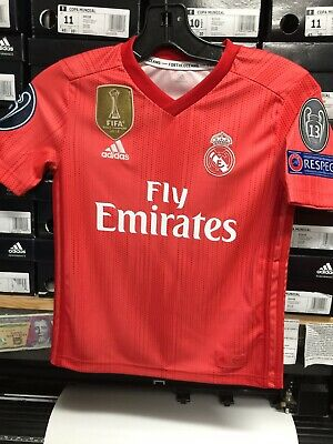 b7dabe8ee Adidas Real Madrid Parley Edition Youth Red Champions League Youth Medium  Only