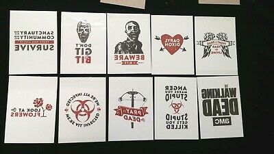 LOT The WALKING DEAD temporary tattoos 10 designs 20 total DARYL DIXON zombies!
