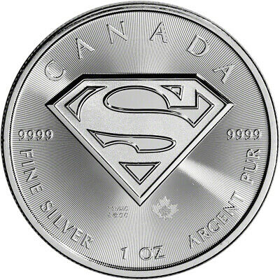 2016 Canada Silver Superman (1 oz) $5 BU