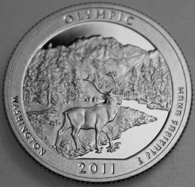 2011-S America The Beautiful Quarter Clad Proof Olympic OL