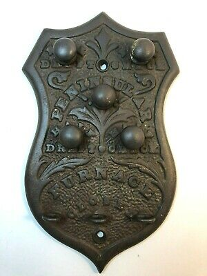 Vintage Peninsular Furnace cover shield ~ Shabby Chic ~ Cast Iron Cast Aluminum