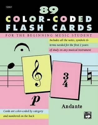 NEW 89 Color-Coded Flash Cards By Alfred Music Card or Card Deck Free Shipping