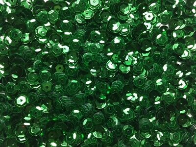 Sequins - Cups - Green - 6mm - 20g - Approx 1000 Pieces