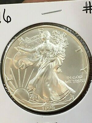 1996 AMERICAN SILVER EAGLE, KEY DATE - ~~~ Excellent condition ~~~GREAT ALBUM #6