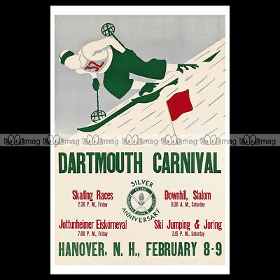 #phpb.000105 Photo DARTMOUTH CARNIVAL 1935 SPORT D'HIVER SKI Advert Reprint