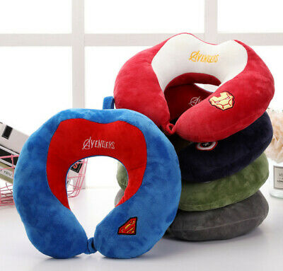 Avengers DC Soft Comfortable Hooded Neck Travel Pillow U Shape Airplane Pillow