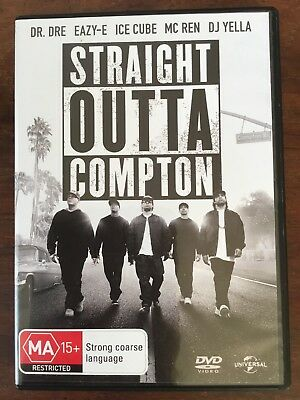 Movie DVD music NWA straight outta Compton Dr.Dre Ice Cube MA15+