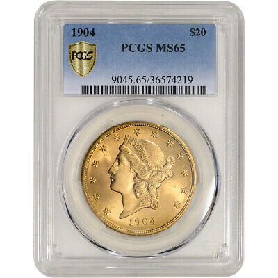 US Gold $20 Liberty Head Double Eagle - PCGS MS65 - Random Date