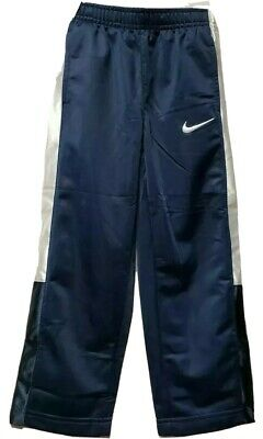 6c6fa8f36 NWT Boys Nike Athletic Pants Size XS (4) Dark Blue with White Side Stripe