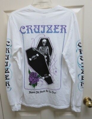 Cruizer and Co. Coffin Men's S Long Sleeve T-Shirt Skateboard Graphics NWOT